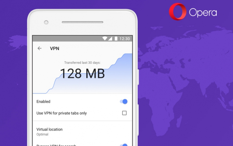 VPN Coming to Opera Browser For Android