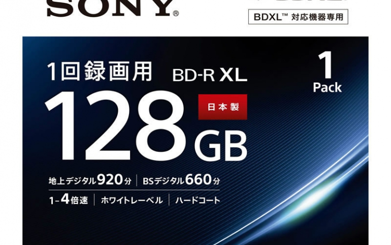 Sony Releases the World's First 4-layer 128GB BD-R XL Disc