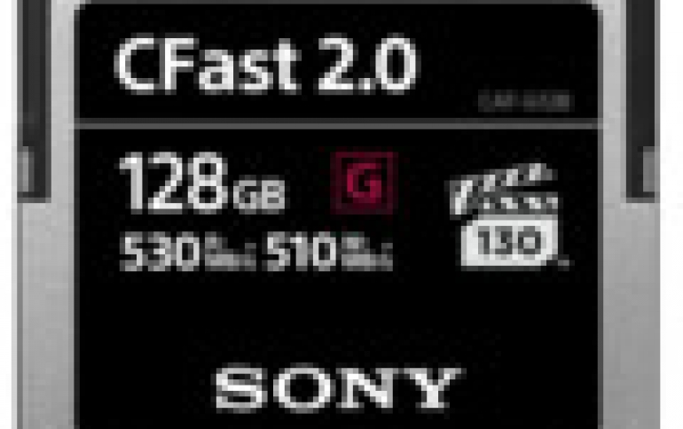 New Sony CFast Range Memory Cards Hit  510MBps Write Speeds