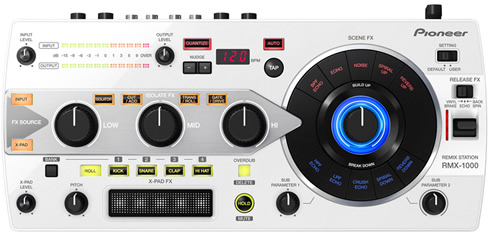 pioneer rmx 1000 remix station available in white colors. Black Bedroom Furniture Sets. Home Design Ideas
