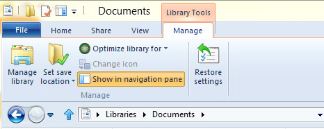 Figure 16 - Library Tools context tab